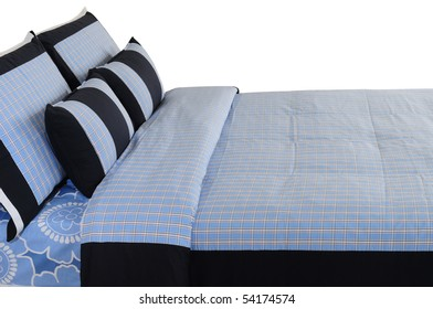 Blue bedding. Isolated