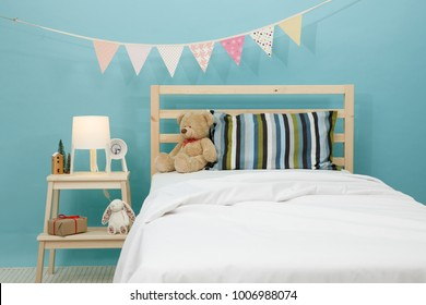 The blue bedroom for child