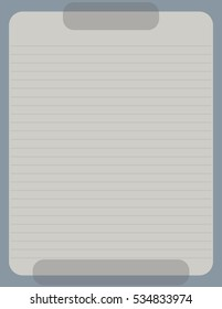 Blue Beige Transparent Stationery Paper - Stationery paper featuring a simple transparent design with a blue border and beige lined paper, business letterhead template.