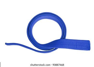 Blue belt isolated on white background