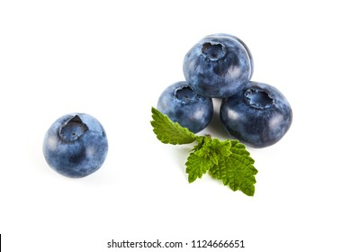 Blue berry isolated on white background. Food ingredients. Fresh fruit
