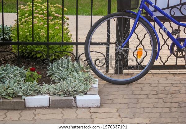 blue-bike-wrought-iron-fence-600w-157033