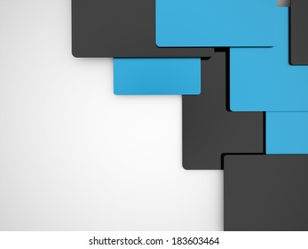 Blue and black abstract business background rendered