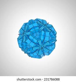 blue and black geometric shape