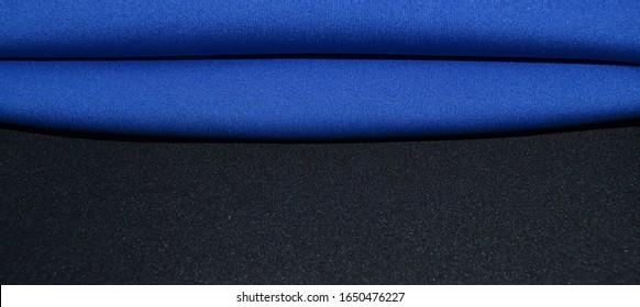 blue and black neoprene fabrics