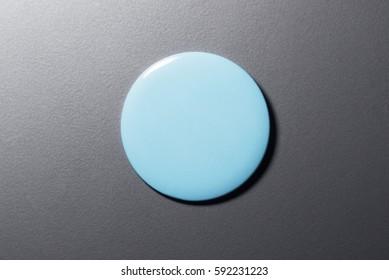 Blue Blank Pin Button