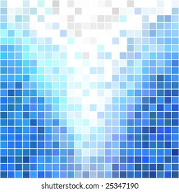Blue blocks pattern background