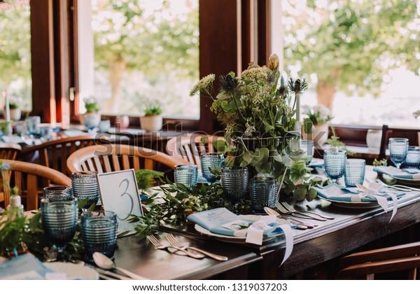 Boho Wedding Decor.Blue Boho Wedding Decor Stock Photo Edit Now 1319037203