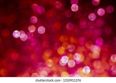 Blue bokeh background, abstract lights