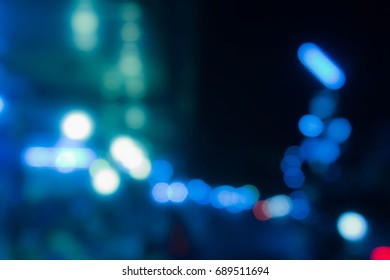 Blue bokeh, bokeh light abstrac background