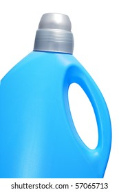 a blue bottle isolated on a white background
