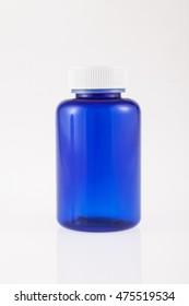 blue bottle for medicine