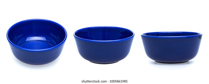 blue bowl isolated on white background