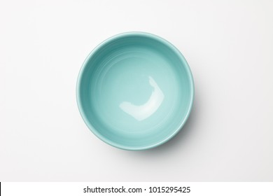 Blue bowl on white background