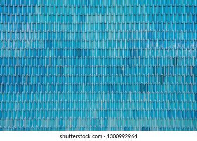 Blue brick ball - background texture