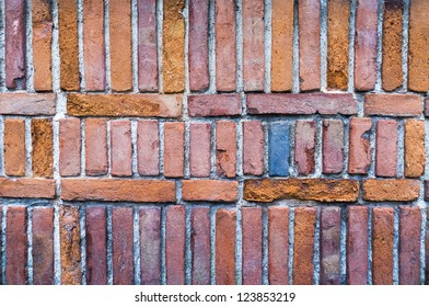 A blue brick on the wall