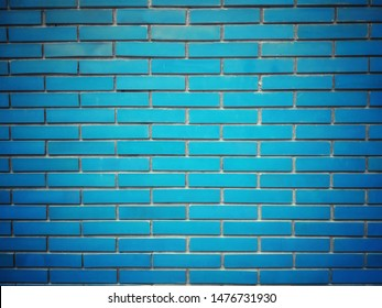 blue brick wall is background.can be used mock up for your idea or graphic design wallpaper.free space for your text