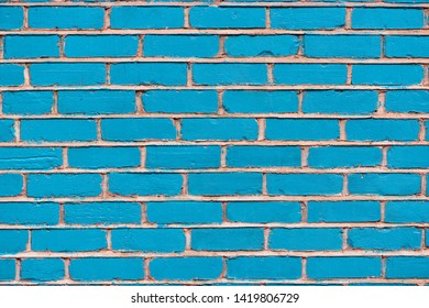 Blue Brick wall texture or background