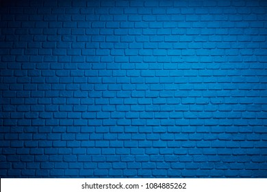 blue bricks wall background