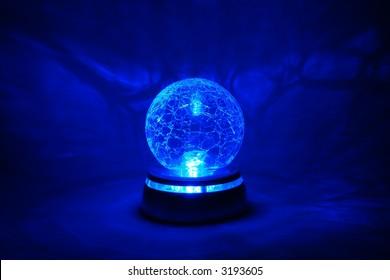 Blue bright crystal ball