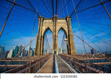 Blue Brooklyn Bridge