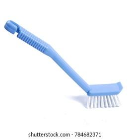 blue brush dishwashing