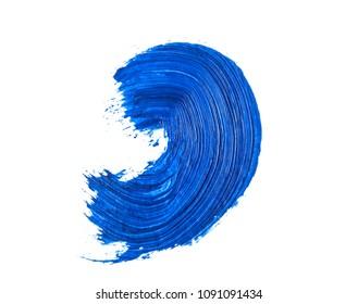 blue brush stroke isolated on white background