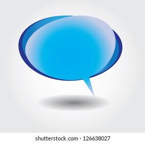 Blue bubble dialog cloud