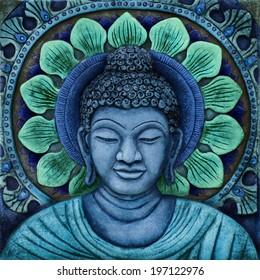 Blue Buddha Relief