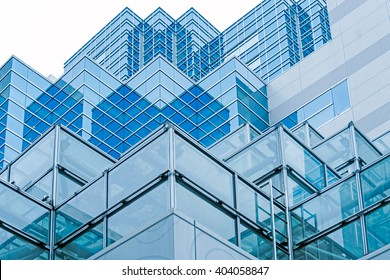 Blue buildings at Ikebukuro area of Tokyo in Japan