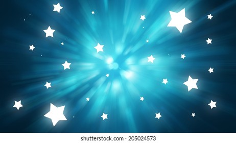 Blue burst abstract background.