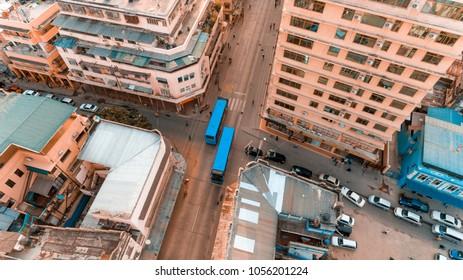 blue bus - rapid transport bus system, Dar es salaam