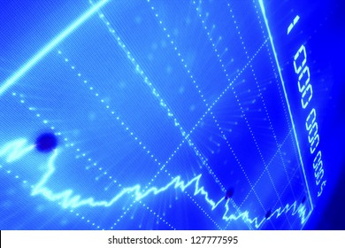 blue business graph abstract background