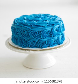 Blue cake for smash cake