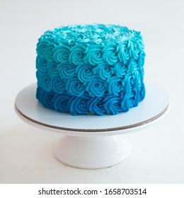 Blue cake for smash cake