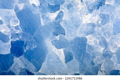 blue calcite mineral texture close-up