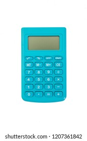 blue calculator with white background. isolated