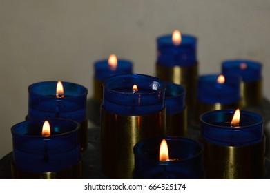 Blue Candels
