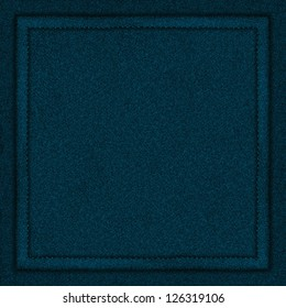 blue canvas background with seam or turquoise textile texture