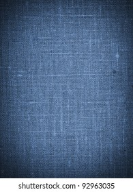 Blue canvas texture or background