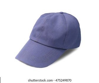 Blue cap isolate on white background.