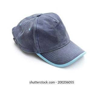 Blue cap isolated on white background