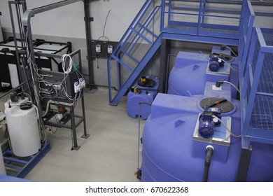 Blue capacities for the water treatment system