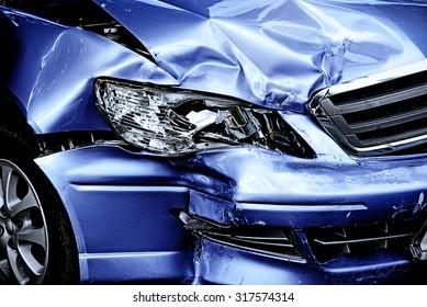 Blue Car crash background