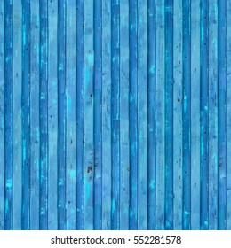 Blue cargo ship container texture. Seamless pattern. Repeating background. Flaking paint texture of the old container. Repeating grunge background