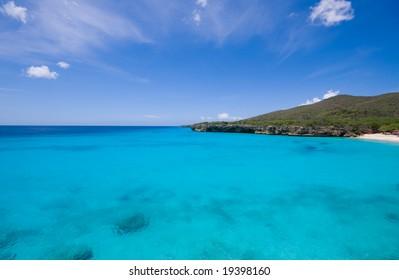 blue caribbean bay view