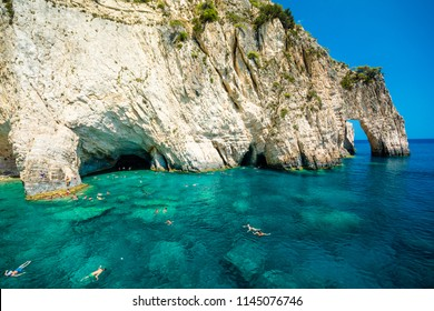 blue caves, a popular tourist area, Zakynthos, Greece