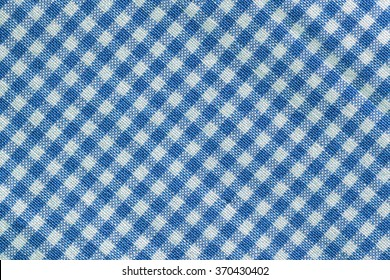 Blue Checkered Tablecloth/ Blue Checkered Tablecloth