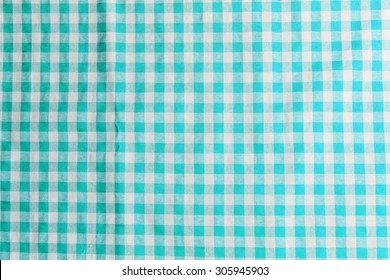 blue checkered tablecloth texture background