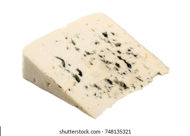 Blue cheese. Isolated on white background.